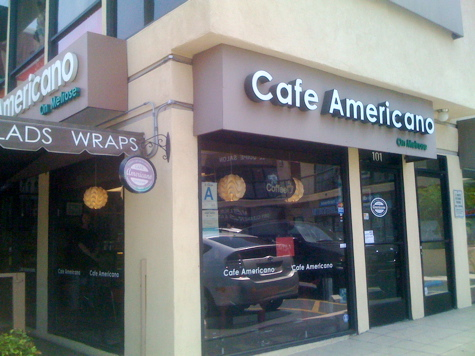 Cafe Americano on Melrose Avenue