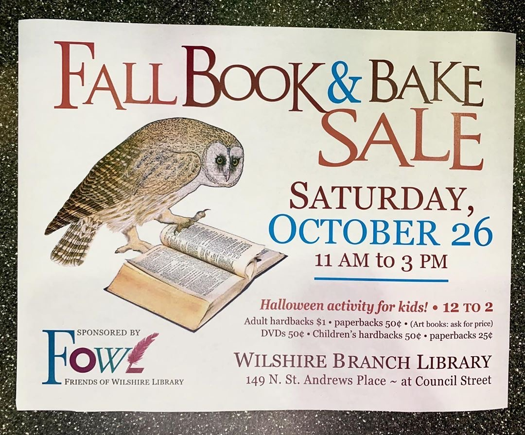 Fall Book & Bake Sale
