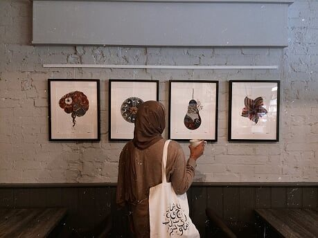 ELHAAM SAHEBDIN LAUNCH EXHIBITION  AT THE LARDER