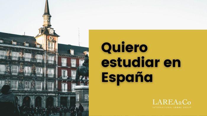 Quiero estudiar en España
