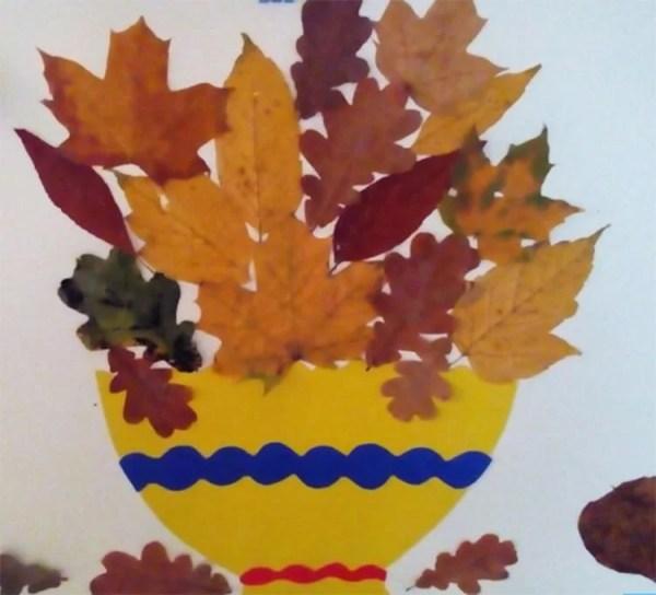 Аппликации из природного материала на тему Осень: поделки ...