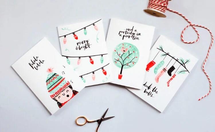 Mga postkard para sa Bagong Taon gamit ang iyong sariling mga kamay: Simple at orihinal na crafts sa kindergarten at paaralan Novogodnyaya otkrytka svoimi rukami 37