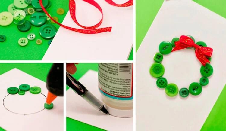 Mga postkard para sa bagong taon gamit ang iyong sariling mga kamay: Simple at orihinal na crafts sa kindergarten at paaralan Novogodnyaya otkrytka svoimi rukami 56