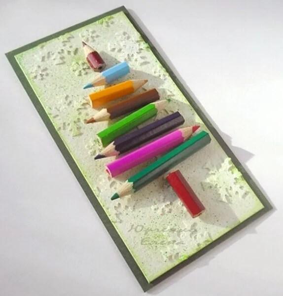 Mga postkard para sa Bagong Taon sa iyong sariling mga kamay: Simple at orihinal na crafts sa kindergarten at paaralan Novogodnyaya otkrytka svoimi rukami 60