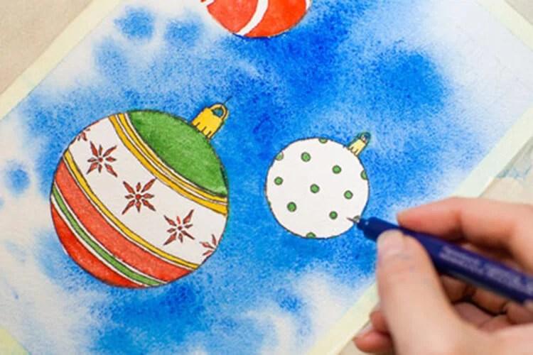 크리스마스 주제용 도면 : 새해를 위해 무엇을 그릴 수 있습니까? Risunki Novodnyuyu Temu 101