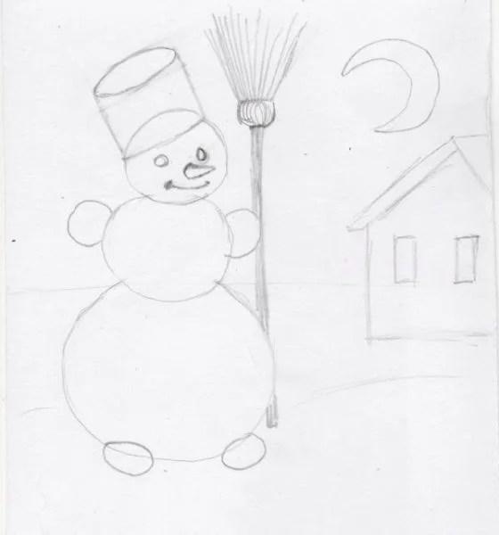 Dessins pour sujets de Noël: Que peut-on tirer sur la nouvelle année Risunki Na Novogodnyuyu Temu 116
