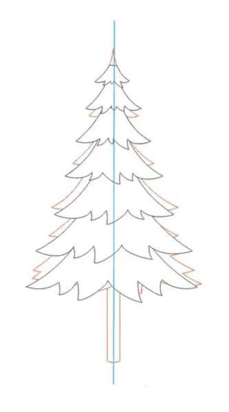 크리스마스 주제용 도면 : 새해를 위해 무엇을 그릴 수 있습니까? Risunki Novodnyuyu Temu 20