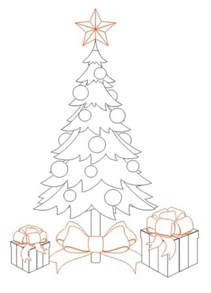크리스마스 주제를위한 그림 : 새해 risunki novodnyuyu temu 22에 무엇을 그릴 수 있습니까?