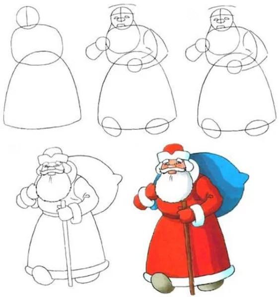 Рисунки на новогоднюю тематику: что можно нарисовать на Новый год risunki na novogodnyuyu temu 4