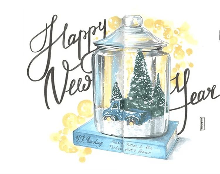 Рисунки на новогоднюю тематику: что можно нарисовать на Новый год risunki na novogodnyuyu temu 72