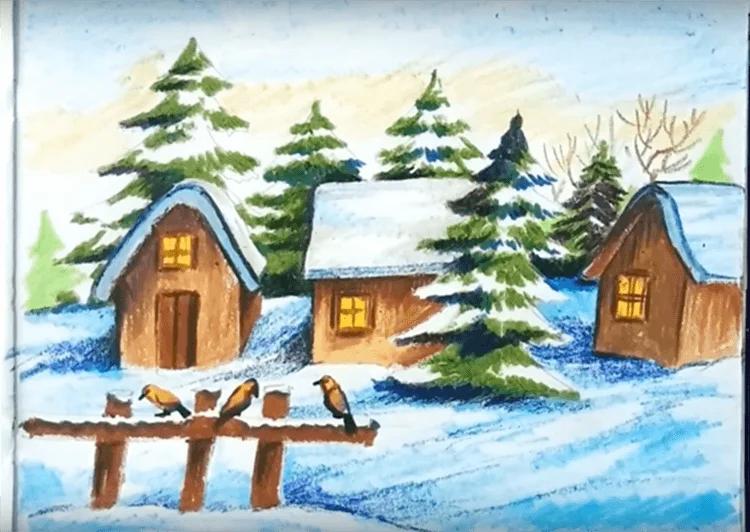 Рисунки на новогоднюю тематику: что можно нарисовать на Новый год risunki na novogodnyuyu temu 84