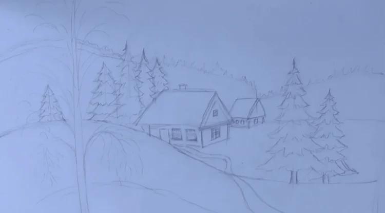 크리스마스 주제용 도면 : 새해에 그려 질 수있는 일은 무엇인가 risunki novododnyuyu temu 89