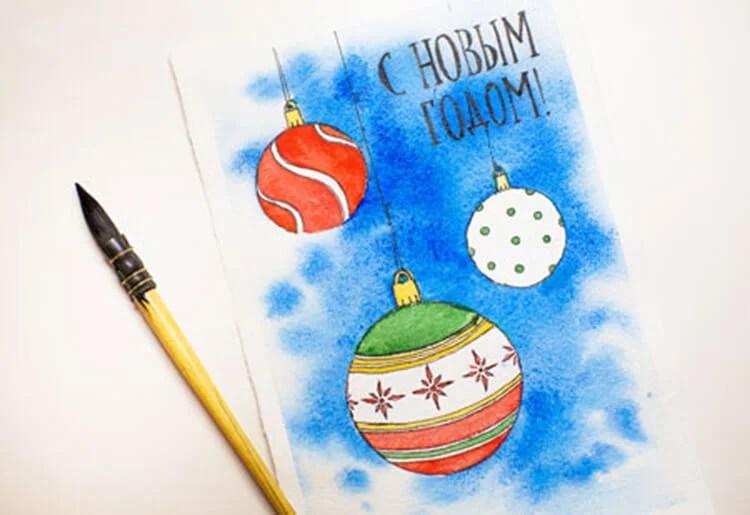 크리스마스 주제용 도면 : 새해를 위해 무엇을 그릴 수 있습니까? Risunki novodnodnuyu temu 93