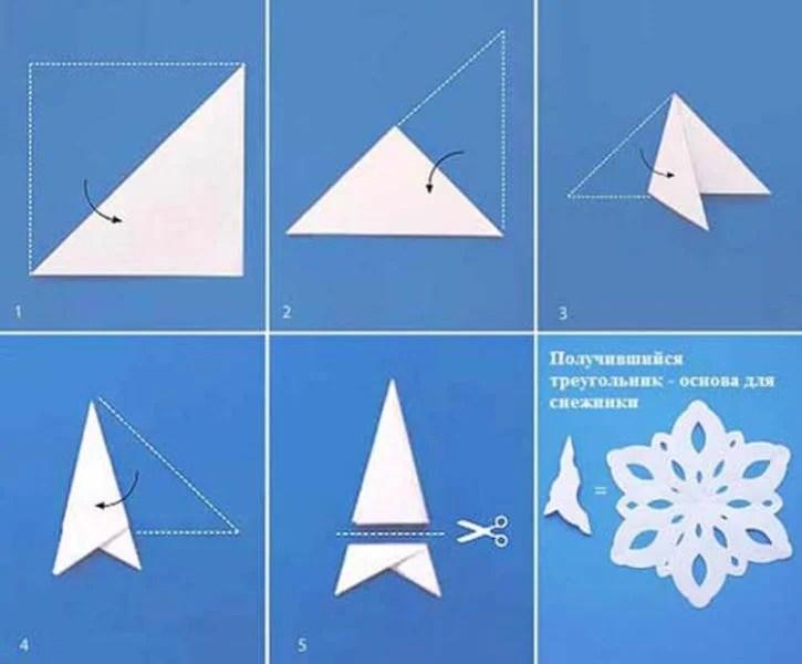 新年美丽的原始雪花:创造自己的手,模板与照片Snezhinki Iz Bumagi Svoimi Rukami 2