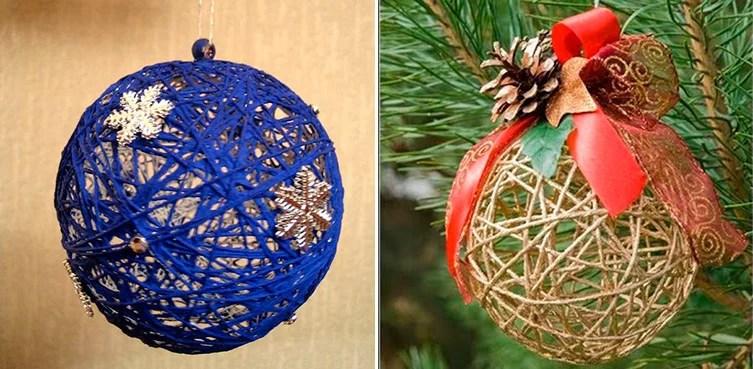 Julgranleksaker på julgran med egna händer: Vad kan göras för det nya året 3 4