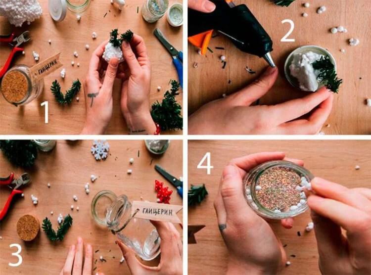 DIY para o novo ano com suas próprias mãos: Fazemos uma escola e jardim de Podelki K Novomu Godu 11