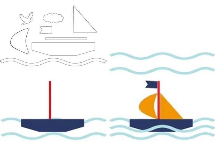 船舶为儿童:使用图表和描述创建的各种方式32 35