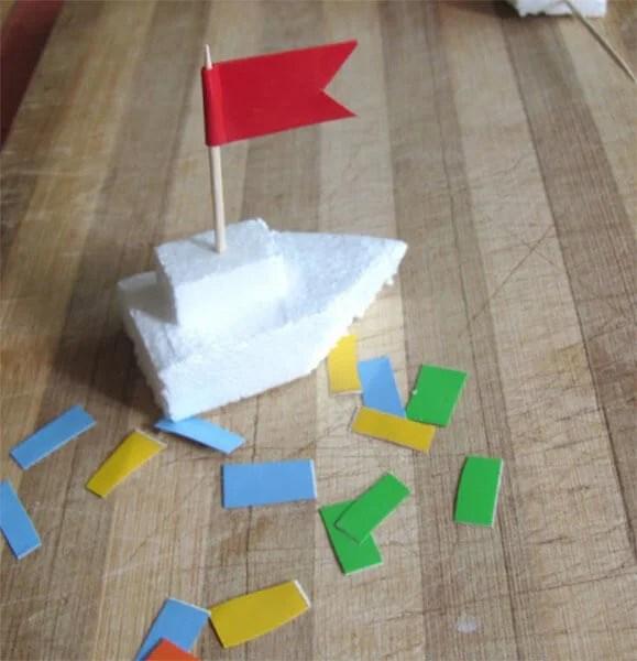 儿童船:使用方案创建的各种方式,并描述Korable Svoimi Rukami 105