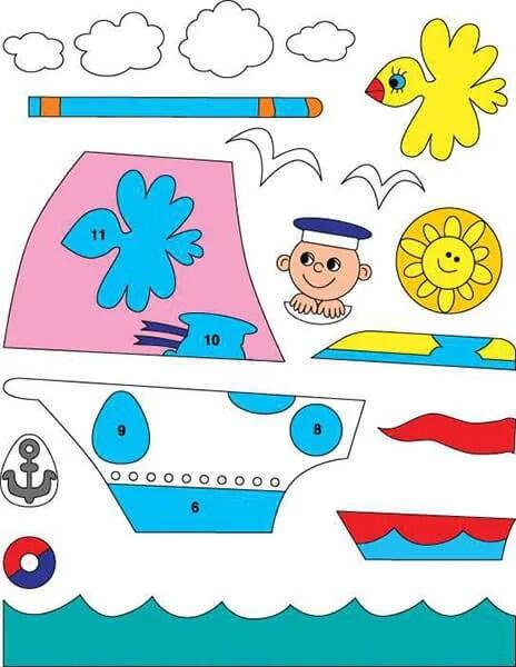 儿童船:使用方案创建的各种方式和描述Korabl Svoimi Rukami 57