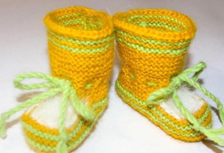 Пинетки для новорожденных малышей спицами: что можно связать для первой обуви малышам pinetki spicami s opisaniem i skhemami 5