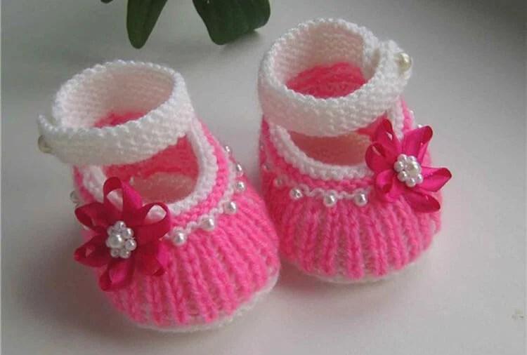 Пинетки для новорожденных малышей спицами: что можно связать для первой обуви малышам pinetki spicami s opisaniem i skhemami 77