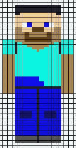 Vackra och enkla ritningar på celler i anteckningsböcker för nybörjare Graficheskie Risunki Po Kletochkam 151
