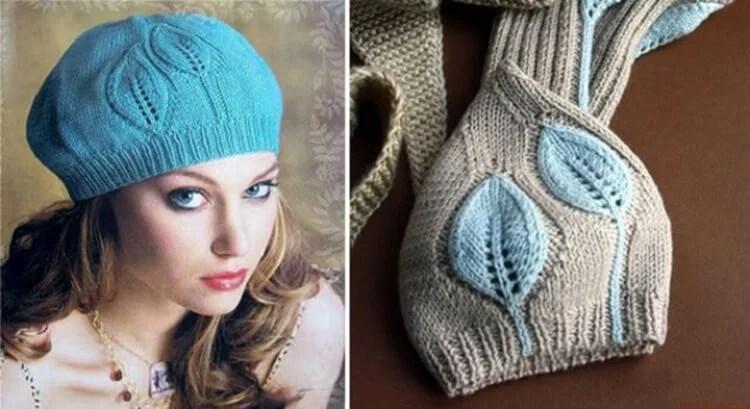 Treptele feminine cu ace de tricotat: Cum să legați o direcție la modă Kak Svyazat Spicami Beret 8