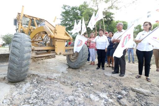 Invierten 3 millones 800 mil pesos en pavimentación
