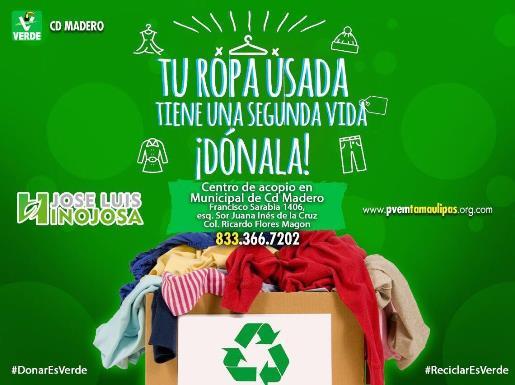 Convierte partido Verde oficinas en centro de acopio de ropa