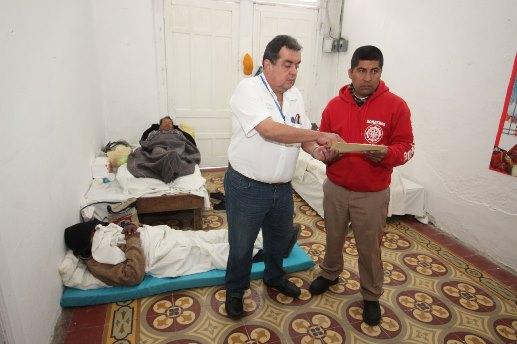 Operativo de apoyo a los indigentes