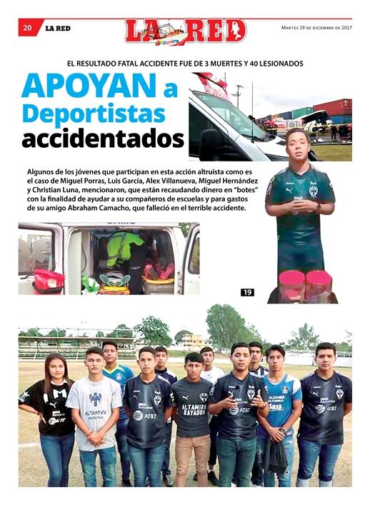 Apoyan a Deportistas accidentados