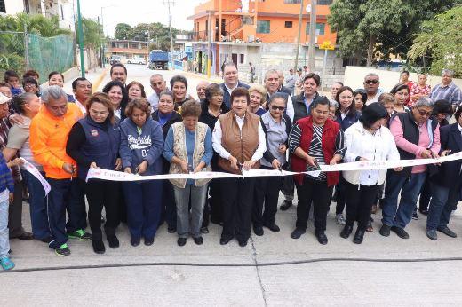 Invierten 4 millones 500 mil pesos en obra de pavimentación