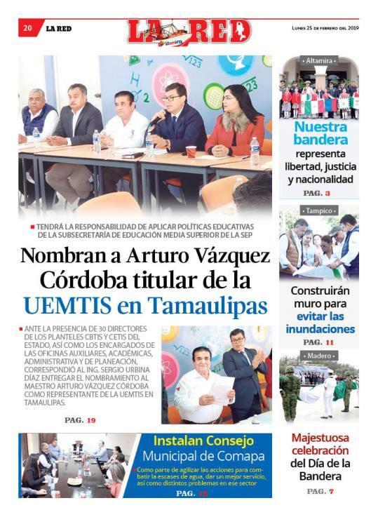 Nombran a Arturo Vázquez Córdoba titular de la UEMTIS en Tamaulipas