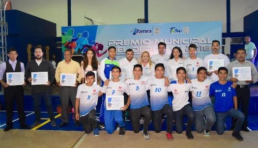 Entrega Alma Laura Amparán Premio Municipal del Deporte 2018