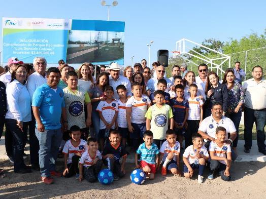 Inauguran parque deportivo en fraccionamiento Colosio