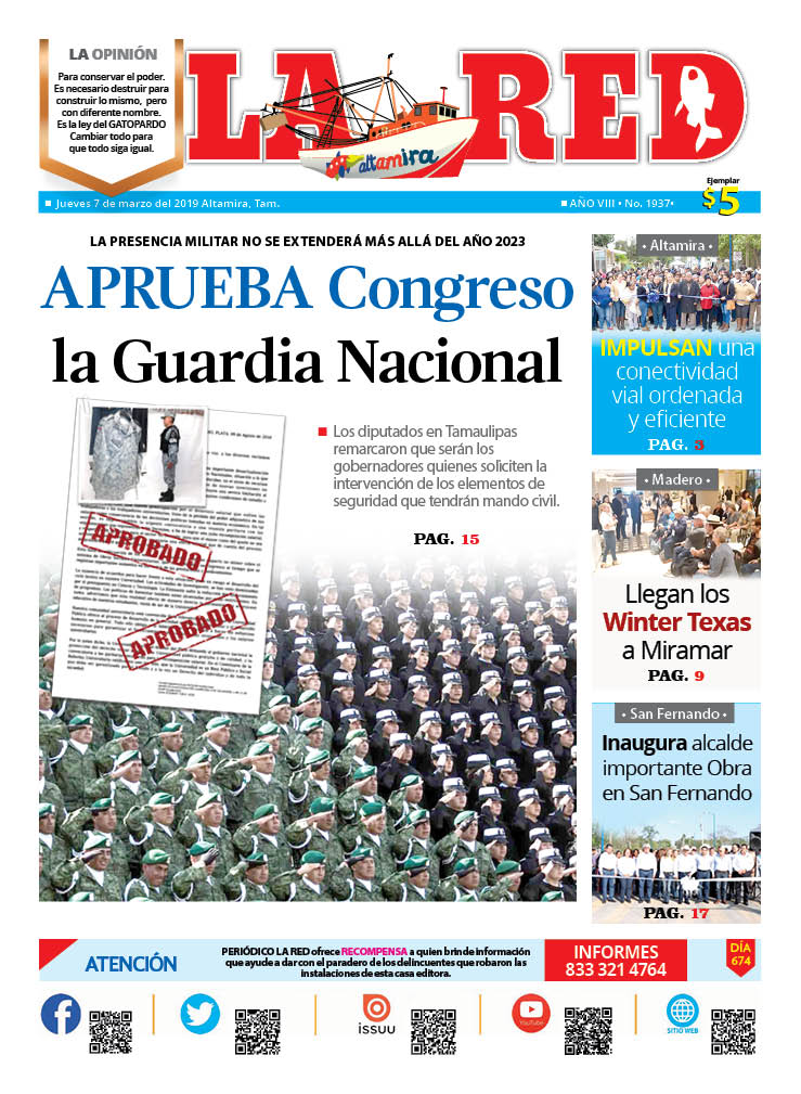 APRUEBA Congreso la Guardia Nacional