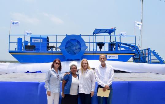 Avanzan trabajos de limpieza en Laguna de Champayán
