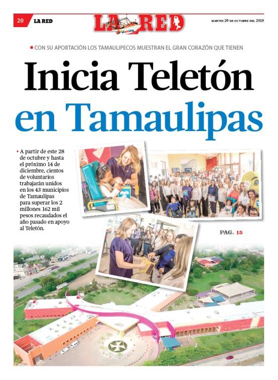 Inicia Teletón en Tamaulipas