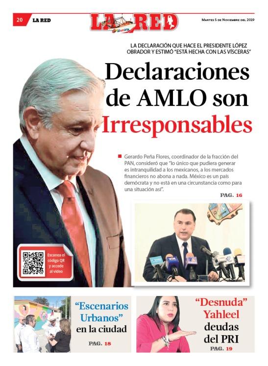 Declaraciones de AMLO son irresponsables