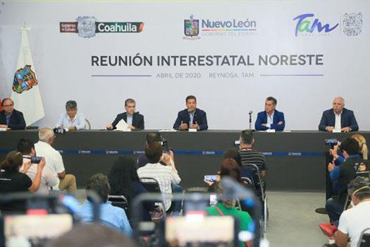 Continúan Tamaulipas, Nuevo León y Coahuila, sumando esfuerzos ante COVID-19