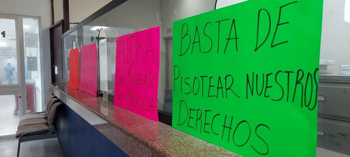 Trabajadores del Civil de Madero se manifiestan