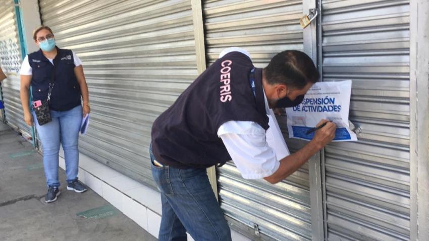 Suspende COEPRIS actividades en ELEKTRA y tiendas departamentales
