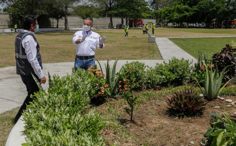 Rehabilitan áreas verdes en el municipio