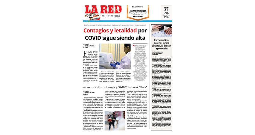 Contagios y letalidad por COVID sigue siendo alta