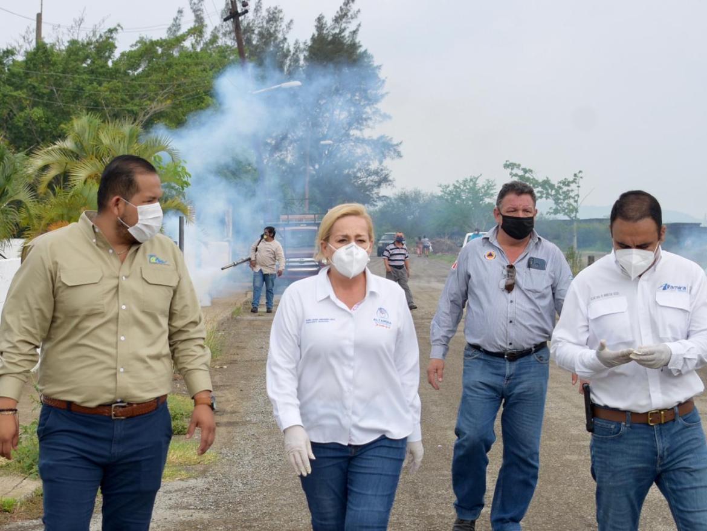 Refuerza fumigación en todo el municipio