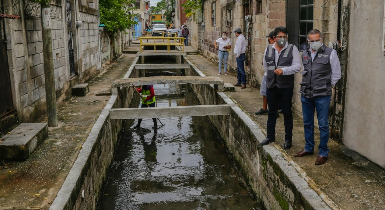 Intensifican mantenimiento a red pluvial de Madero