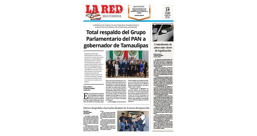 Total respaldo del Grupo Parlamentario del PAN a gobernador de Tamaulipas
