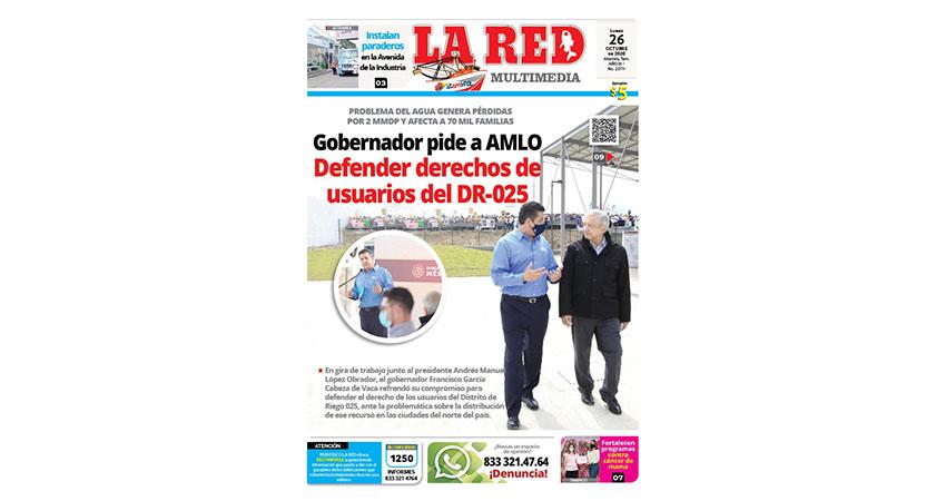 Gobernador pide a AMLO defender derechos de usuarios del DR-025