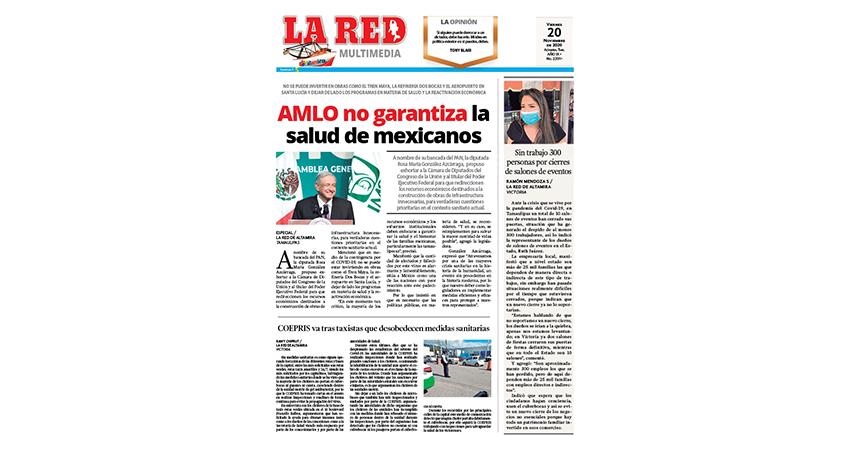 AMLO no garantiza la salud de mexicanos