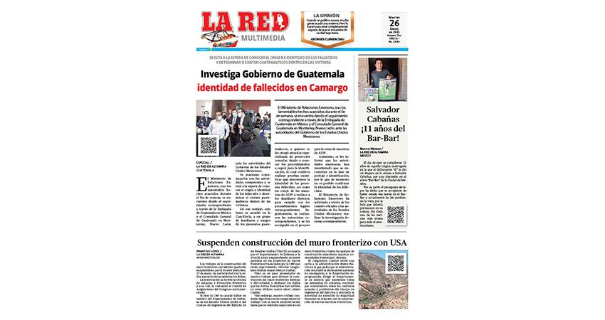 Investiga Gobierno de Guatemala identidad de fallecidos en Camargo